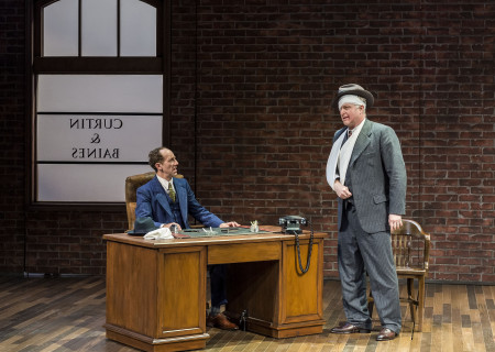 "L-R: Joey Slotnick and CJ Wilson in the world premiere of ""A Play Is a Poem."" Written by Ethan Coen and directed by Neil Pepe, ""A Play Is a Poem"" runs through October 13, 2019, at Center Theatre Group/Mark Taper Forum. For tickets and information, please visit CenterTheatreGroup.org or call (213) 628-2772. Media Contact: CTGMedia@CTGLA.org / (213) 972-7376. Photo by Craig Schwartz."