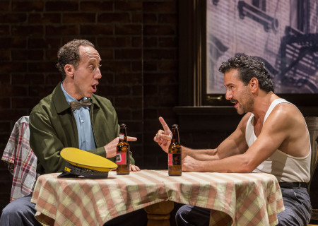 "L-R: Joey Slotnick and Max Casella in the world premiere of ""A Play Is a Poem."" Written by Ethan Coen and directed by Neil Pepe, ""A Play Is a Poem"" runs through October 13, 2019, at Center Theatre Group/Mark Taper Forum. For tickets and information, please visit CenterTheatreGroup.org or call (213) 628-2772. Media Contact: CTGMedia@CTGLA.org / (213) 972-7376. Photo by Craig Schwartz."