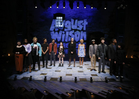 L-R: Vanessa Valencia, Laila C. Stewart, Tiffany DeBerry, Kyle Branch, Daniel Velez, Mylah Eaton, Jada Henry, Bene't Benton, Dejean Deterville, Jofre Paul Francisco, Ryan Wade and Samuel Caruana at the 2019 August Wilson Monologue Competition Los Angeles Regional Finals hosted by Center Theatre Group at the Mark Taper Forum on March 11. Media Contact: (213) 972-7376 / CTGMedia@ctgla.org. Photo by Ryan Miller/Capture Imaging.