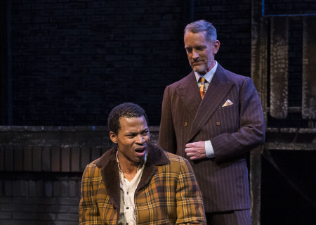 "L-R: Jon Chaffin and Ned Mochel in ""Native Son"" at Center Theatre Group's Kirk Douglas Theatre. Antaeus Theatre Company's production runs through April 28 as part of Block Party 2019. For more information, please visit CenterTheatreGroup.org. Press Contact: CTGMedia@CTGLA.org / (213) 972-7376. Photo by Craig Schwartz."