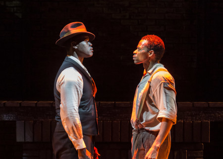 """L-R: Noel Arthur and Jon Chaffin in """"Native Son"""" at Center Theatre Group's Kirk Douglas Theatre. Antaeus Theatre Company's production runs through April 28 as part of Block Party 2019. For more information, please visit CenterTheatreGroup.org. Press Contact: CTGMedia@CTGLA.org / (213) 972-7376. Photo by Craig Schwartz."""