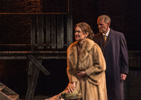 "L-R: Victoria Platt, Gigi Bermingham and Ned Mochel in ""Native Son"" at Center Theatre Group's Kirk Douglas Theatre. Antaeus Theatre Company's production runs through April 28 as part of Block Party 2019. For more information, please visit CenterTheatreGroup.org. Press Contact: CTGMedia@CTGLA.org / (213) 972-7376. Photo by Craig Schwartz."