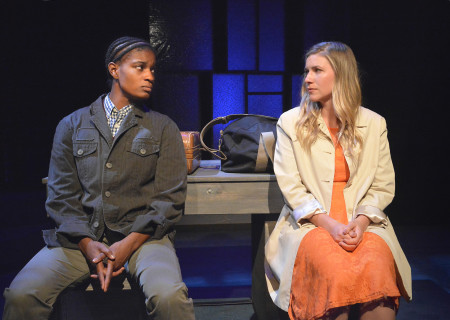 "L-R: Ashley Romans and Miranda Wynne in Skylight Theatre Company's original production of ""Rotterdam,"" which will be remounted at Center Theatre Group's Kirk Douglas Theatre from March 28 – April 7 as part of Block Party 2019. For more information, please visit CenterTheatreGroup.org. Press Contact: CTGMedia@CTGLA.org / (213) 972-7376. Photo by Ed Krieger."