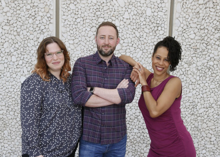 L-R: Playwrights Laura Jacqmin, Steve Yockey and Dominique Morisseau whose work will be presented as part of Center Theatre Group's annual L.A. Writers' Workshop Festival on June 29 at the Kirk Douglas Theatre. Media Contact: CTGMedia@CTGLA.org / (213) 972-7376. Photo by Ryan Miller/Capture Imaging.