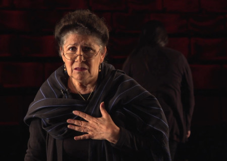 "VIVIS appears in ""Mojada"" captured at the Kirk Douglas Theatre and presented on Center Theatre Group's Digital Stage. Image courtesy of Center Theatre Group."