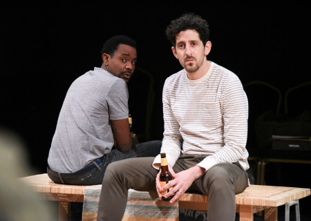 """L-R: Brandon Scott and Adam Shapiro in the original IAMA Theatre Company production of """"Canyon."""" Center Theatre Group's fourth annual Block Party will remount """"Canyon"""" at the Kirk Douglas Theatre from April 8 through April 19, 2020. For more information, please visit CenterTheatreGroup.org. Press Contact: CTGMedia@CTGLA.org / (213) 972-7376. Photo by Dean Chekvala."""
