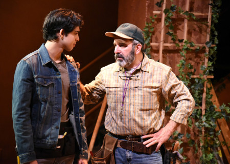 """L-R: Luca Oriel and Geoffrey Rivas in the original IAMA Theatre Company production of """"Canyon."""" Center Theatre Group's fourth annual Block Party will remount """"Canyon"""" at the Kirk Douglas Theatre from April 8 through April 19, 2020. For more information, please visit CenterTheatreGroup.org. Press Contact: CTGMedia@CTGLA.org / (213) 972-7376. Photo by Dean Chekvala."""