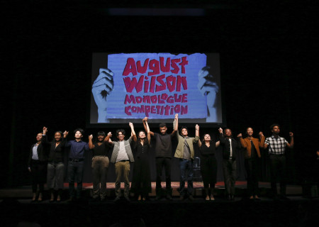 The 2020 August Wilson Monologue Competition (AWMC) Los Angeles regional finalists take their bow. Hosted by Center Theatre Group, AWMC was held at the Mark Taper Forum on February 25. Media Contact: (213) 972-7376 / CTGMedia@ctgla.org. Photo by Ryan Miller/Capture Imaging.