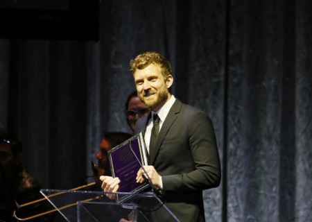 The 2020 Dorothy and Richard E. Sherwood Award Recipient Mat Diafos Sweeney during the 30th Annual LA Stage Alliance Ovation Awards held at The Theatre at Ace Hotel on January 13, 2020 in Los Angeles, California. Media Contact: CTGMedia@CTGLA.org / (213) 972-7376. Photo by Ryan Miller/Capture Imaging.
