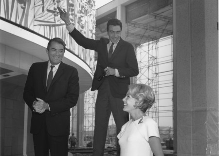 L to R: Gregory Peck, Gordon Davidson and Anne Douglas at the Mark Taper Forum.