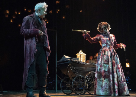Campbell Scott and LaChanze in 'A Christmas Carol' on Broadway. Photo by Joan Marcus.