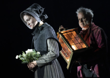 Sarah Hunt and Campbell Scott in 'A Christmas Carol' on Broadway. Photo by Joan Marcus.