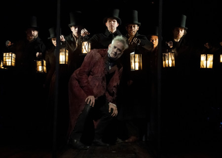 Campbell Scott and the Broadway Cast of 'A Christmas Carol.' Photo by Joan Marcus.