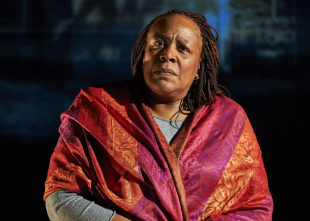 "Dael Orlandersmith in ""Until the Flood,"" which will be part of Center Theatre Group's 2019 – 2020 season at the Kirk Douglas Theatre. Written by Orlandersmith and directed by Center Theatre Group Associate Artistic Director Neel Keller, ""Until the Flood"" runs January 24 through February 23, 2020. For season tickets and information, please visit CenterTheatreGroup.org or call (213) 972-4444. Media Contact: CTGMedia@CTGLA.org / (213) 972-7376. Photo by Robert Altman."