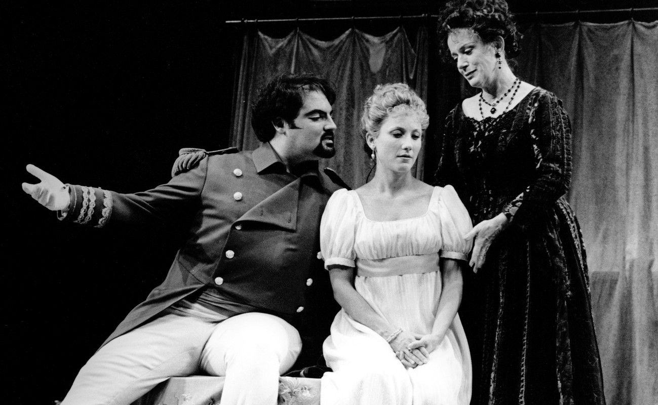 (L–R) Roland Rusinek, Nancy Dussault, and Constance Hauman in Candide