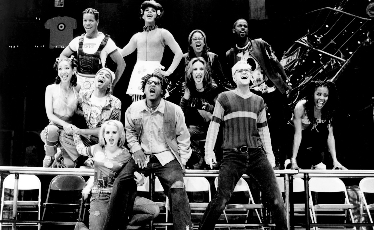 The Company in a scene from 'Rent,' The Pulitzer Prize and Tony Award-winning musical written by Jonathan Larson and directed by Michael Greif