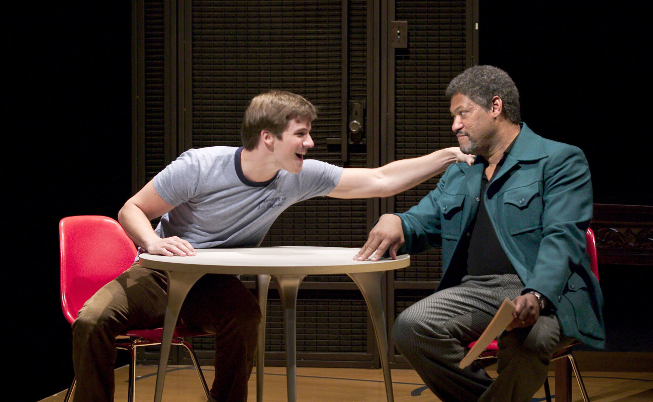 (L–R) Matt Lanter and Laurence Fishburne in a scene from 'Without Walls.'