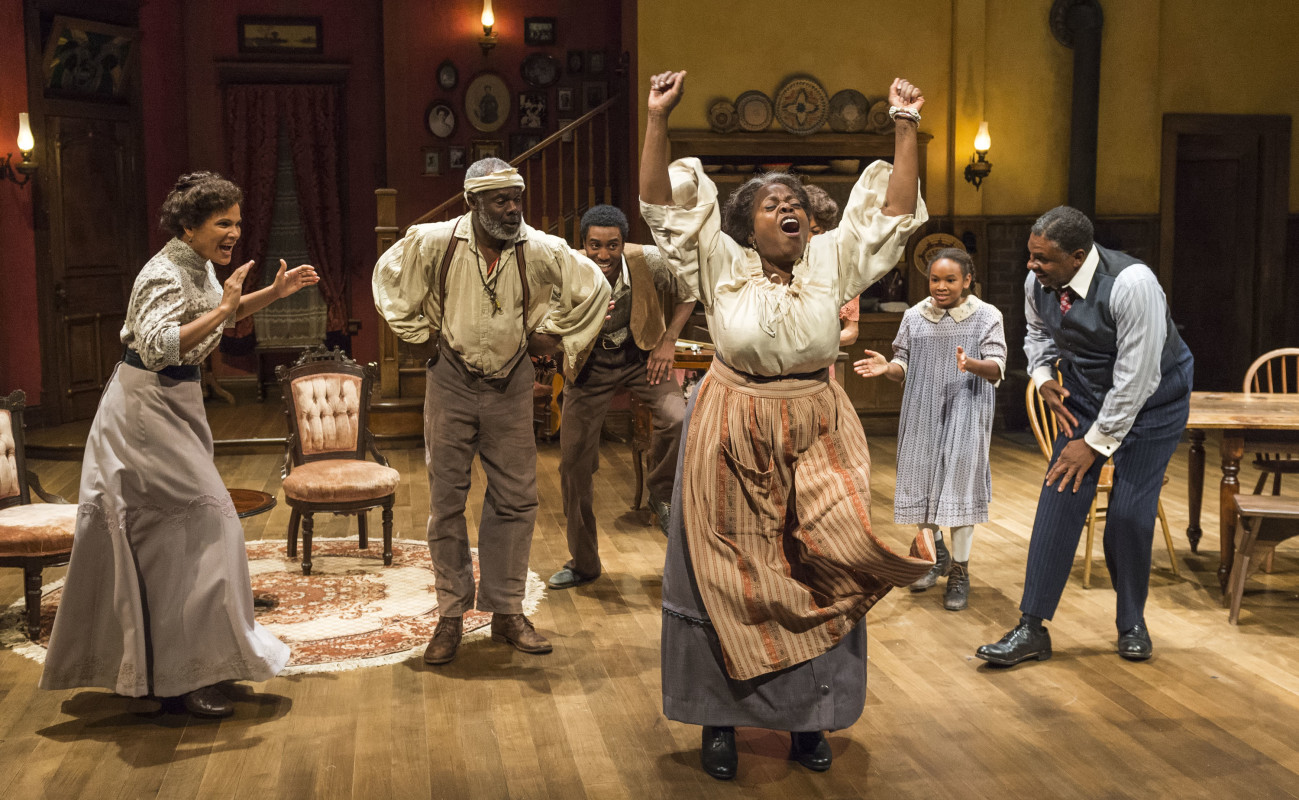 (L–R) Glynn Turman, Gabriel Brown, Lillias White, Skye Barrett, and Keith David in 'Joe Turner's Come and Gone.'