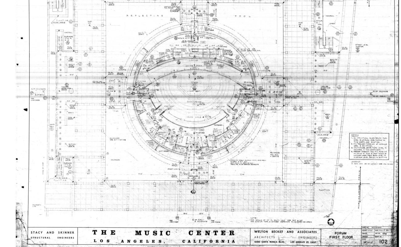 The Music Center Designs by Welton Becket and Associates