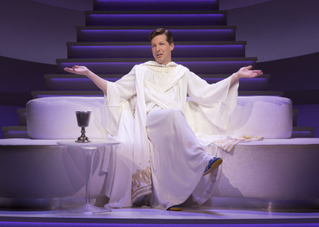 "Sean Hayes as God in ""An Act of God,"" written by God, transcribed by David Javerbaum and directed by Joe Mantello. ""An Act of God"" is now playing at the Center Theatre Group/Ahmanson Theatre through March 13, 2016. Tickets are available at CenterTheatreGroup.org or by calling (213) 972-4400.<br />