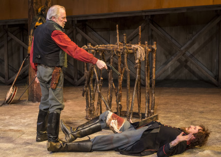 "L-R: Michael McKean and Josh Wingate in ""Father Comes Home From The Wars (Parts 1, 2 & 3)"" at Center Theatre Group/Mark Taper Forum. Written by Suzan-Lori Parks and directed by Jo Bonney, the West Coast premiere of ""Father Comes Home From The Wars (Parts 1, 2 & 3)"" plays April 5 – May 15, 2016. For tickets and information, please visit CenterTheatreGroup.org or call (213) 628-2772. <br />