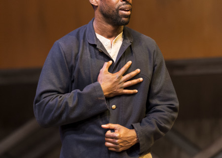 "Sterling K. Brown in ""Father Comes Home From The Wars (Parts 1, 2 &amp; 3)"" at Center Theatre Group/Mark Taper Forum. Written by Suzan-Lori Parks and directed by Jo Bonney, the West Coast premiere of ""Father Comes Home From The Wars (Parts 1, 2 &amp; 3)"" plays April 5 – May 15, 2016. For tickets and information, please visit CenterTheatreGroup.org or call (213) 628-2772. <br />