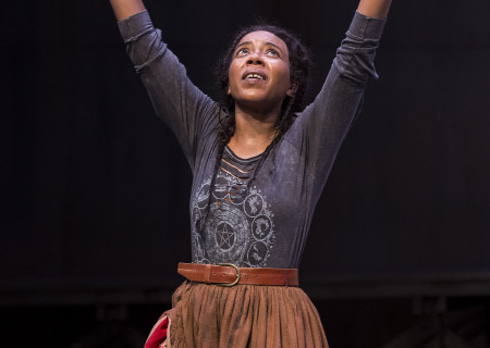 "Sameerah Luqmaan-Harris in ""Father Comes Home From The Wars (Parts 1, 2 & 3)"" at Center Theatre Group/Mark Taper Forum. Written by Suzan-Lori Parks and directed by Jo Bonney, the West Coast premiere of ""Father Comes Home From The Wars (Parts 1, 2 & 3)"" plays April 5 – May 15, 2016. For tickets and information, please visit CenterTheatreGroup.org or call (213) 628-2772. <br />