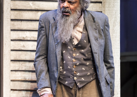 "Roger Robinson in ""Father Comes Home From The Wars (Parts 1, 2 & 3)"" at Center Theatre Group/Mark Taper Forum. Written by Suzan-Lori Parks and directed by Jo Bonney, the West Coast premiere of ""Father Comes Home From The Wars (Parts 1, 2 & 3)"" plays April 5 – May 15, 2016. For tickets and information, please visit CenterTheatreGroup.org or call (213) 628-2772. <br />