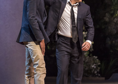 "L-R: York Walker and David Pittu in ""The Mystery of Love &amp; Sex"" at the Center Theatre Group/Mark Taper Forum. Written by Bathsheba Doran and directed by Robert Egan, ""The Mystery of Love &amp; Sex"" plays February 10 – March 20, 2016, at the Center Theatre Group/Mark Taper Forum. For tickets and information, please visit CenterTheatreGroup.org or call (213) 628-2772.  <br />