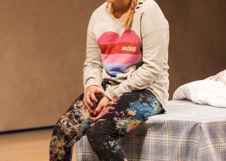 "Mae Whitman in ""The Mystery of Love & Sex"" at the Center Theatre Group/Mark Taper Forum. Written by Bathsheba Doran and directed by Robert Egan, ""The Mystery of Love & Sex"" plays February 10 – March 20, 2016, at the Center Theatre Group/Mark Taper Forum. For tickets and information, please visit CenterTheatreGroup.org or call (213) 628-2772.  <br />