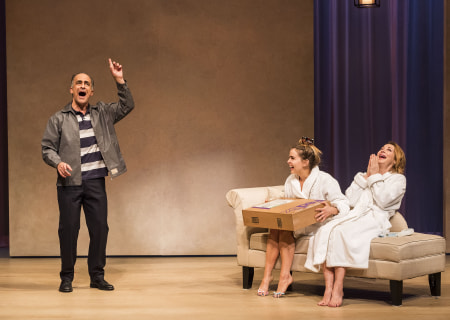 "L-R: David Pittu, Mae Whitman and Sharon Lawrence in ""The Mystery of Love & Sex"" at the Center Theatre Group/Mark Taper Forum. Written by Bathsheba Doran and directed by Robert Egan, ""The Mystery of Love & Sex"" plays February 10 – March 20, 2016, at the Center Theatre Group/Mark Taper Forum. For tickets and information, please visit CenterTheatreGroup.org or call (213) 628-2772.  <br />