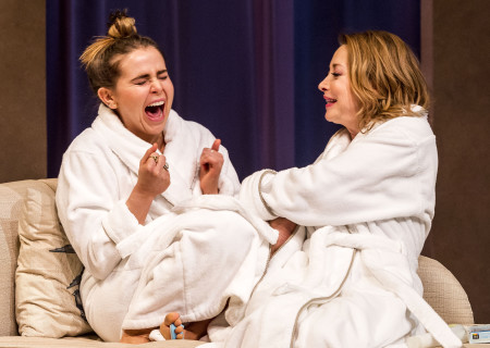 "L-R: Mae Whitman and Sharon Lawrence in ""The Mystery of Love & Sex"" at the Center Theatre Group/Mark Taper Forum. Written by Bathsheba Doran and directed by Robert Egan, ""The Mystery of Love & Sex"" plays February 10 – March 20, 2016, at the Center Theatre Group/Mark Taper Forum. For tickets and information, please visit CenterTheatreGroup.org or call (213) 628-2772.  <br />