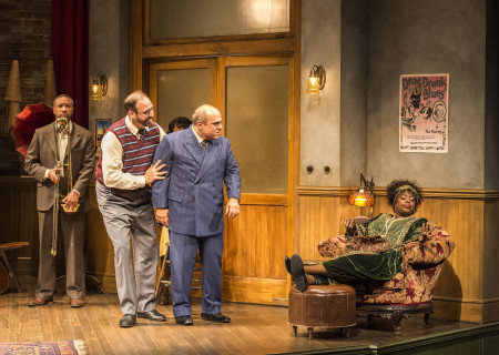 "L-R: Damon Gupton, Ed Swidey, Matthew Henerson and Lillias White in August Wilson's ""Ma Rainey's Black Bottom,"" directed by Phylicia Rashad, playing through October 16, 2016, at Center Theatre Group/Mark Taper Forum at the Los Angeles Music Center. For tickets and information, please visit CenterTheatreGroup.org or call (213) 628-2772. Contact: CTGMedia@ctgla.org/ (213) 972-7376. Photo by Craig Schwartz."