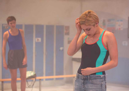 """L-R: Connor Kelly-Eiding and Teagan Rose in the Echo Theater production of """"Dry Land."""" Written by Ruby Rae Spiegel and directed by Alana Dietze, """"Dry Land"""" is part of Center Theatre Group's Block Party and will play May 12-21 at the Kirk Douglas Theatre. Photo by Darrett Sanders."""