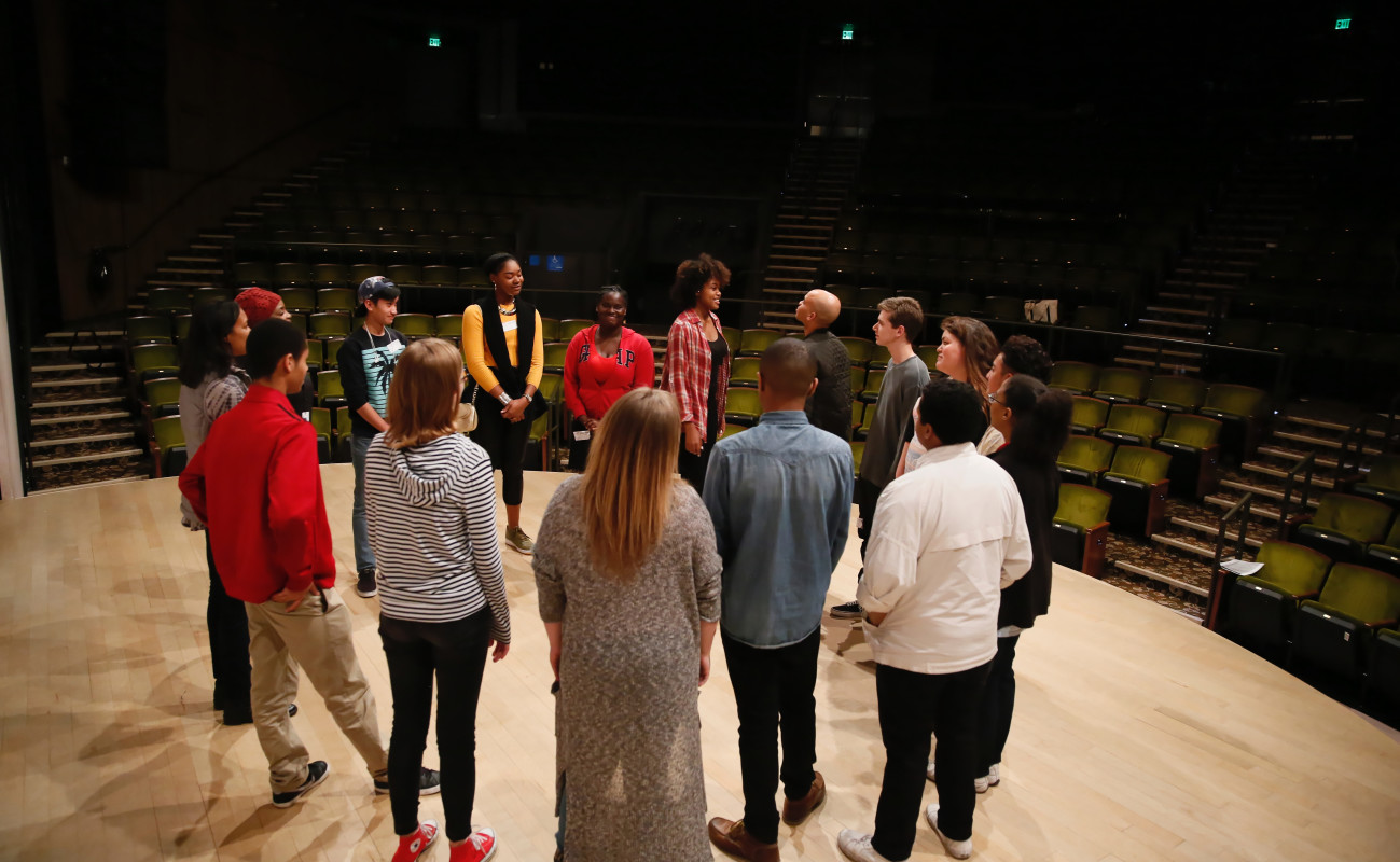 Students in the August Wilson Monologue Competition.