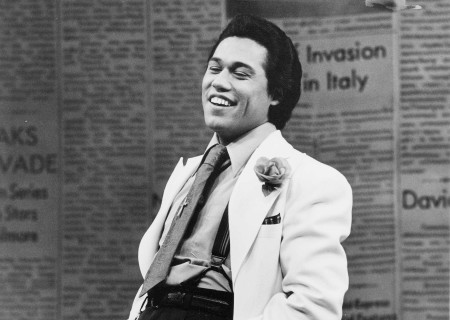 "Daniel Valdez in the world premiere of ""Zoot Suit"" at the Mark Taper Forum in 1978. Written and directed by Luis Valdez and presented in association with El Teatro Campesino, the revival of ""Zoot Suit"" will play January 31 through March 12, 2017, as part of Center Theatre Group/Mark Taper Forum's 2017-2018 season at the Los Angeles Music Center. Tickets for the Mark Taper Forum's 50th anniversary season are currently available by season ticket membership only. For information and to charge season tickets by phone, call the Exclusive Season Ticket Hotline at (213) 972-4444. To purchase season memberships online, visit www.CenterTheatreGroup.org/Taper. Contact: CTGMedia@ctgla.org / (213) 972-7376. Photo by Jay Thompson."