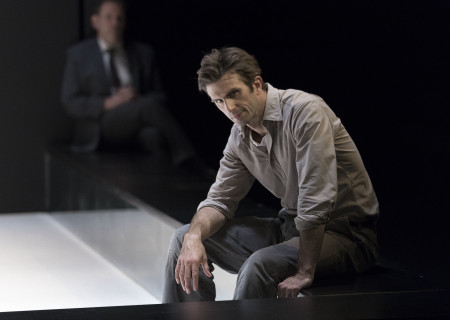 "Frederick Weller (foreground) in the Young Vic production of ""A View From the Bridge."" Directed by Ivo van Hove, the production plays through October 16, 2016, at the Center Theatre Group/Ahmanson Theatre. For tickets and information, please visit CenterTheatreGroup.org or call (213) 972-4400. Contact: CTGMedia@ctgla.org/ (213) 972-7376. Photo by Jan Versweyveld."