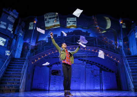 "Adam Chanler-Berat in ""Amélie, A New Musical"" at Center Theatre Group/Ahmanson Theatre. ""Amélie, A New Musical"" plays through January 15, 2017. For tickets and information, please visit CenterTheatreGroup.org or call (213) 972-4400. Contact: CTG Publicity/ (213) 972-7376/CTGMedia@ctgla.org. Photo by Joan Marcus"