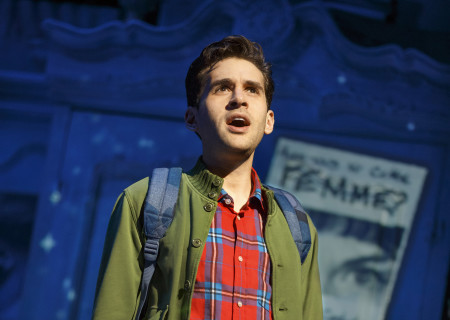 "Adam Chanler-Berat in ""Amélie, A New Musical"" at Center Theatre Group/Ahmanson Theatre. ""Amélie, A New Musical"" plays through January 15, 2017. For tickets and information, please visit CenterTheatreGroup.org or call (213) 972-4400. Contact: CTG Publicity/ (213) 972-7376/CTGMedia@ctgla.org. Photo by Joan Marcus."