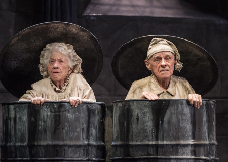 "Charlotte Rae and James Greene in ""Endgame."" Written by Samuel Beckett and directed by Alan Mandell, ""Endgame"" plays through May 22, 2016, at Center Theatre Group's Kirk Douglas Theatre. For tickets and information, please visit CenterTheatreGroup.org or call (213) 628-2772. <br />