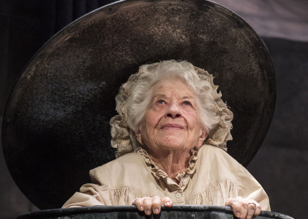 "Charlotte Rae in ""Endgame."" Written by Samuel Beckett and directed by Alan Mandell, ""Endgame"" plays through May 22, 2016, at Center Theatre Group's Kirk Douglas Theatre. For tickets and information, please visit CenterTheatreGroup.org or call (213) 628-2772. <br />