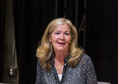 "Cast member Linda Gehringer on the first day of rehearsal for the world premiere of ""Vicuña"" by Jon Robin Baitz at Center Theatre Group's Kirk Douglas Theatre. Directed by Robert Egan, ""Vicuña"" runs October 23 through November 20, 2016. For tickets and information, please visit CenterTheatreGroup.org or call (213) 628-2772. Contact: CTGMedia@ctgla.org / (213) 972-7376. Photo by Craig Schwartz."