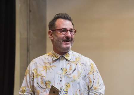 "Playwright Jon Robin Baitz on the first day of rehearsal for the world premiere of his play ""Vicuña"" at Center Theatre Group's Kirk Douglas Theatre."