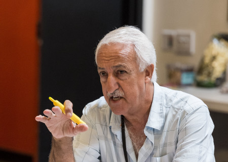 """Cast member Brian George on the first day of rehearsal for the world premiere of """"Vicuña"""" by Jon Robin Baitz at Center Theatre Group's Kirk Douglas Theatre. Directed by Robert Egan, """"Vicuña"""" runs October 23 through November 20, 2016. For tickets and information, please visit CenterTheatreGroup.org or call (213) 628-2772. Contact: CTGMedia@ctgla.org / (213) 972-7376. Photo by Craig Schwartz."""