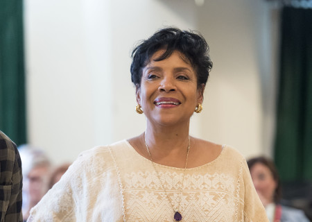 "Cast member Phylicia Rashad on the first day of rehearsal for ""Head of Passes"" by Tarell Alvin McCraney, directed by Tina Landau. ""Head of Passes"" plays September 13 through October 22, 2017, as part of Center Theatre Group's 50th anniversary season at the Mark Taper Forum. The opening is September 24. For tickets and information, please visit CenterTheatreGroup.org or call (213) 628-2772. Media Contact: CTGMedia@ctgla.org / (213) 972-7376. Photo by Craig Schwartz."