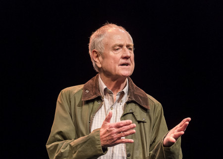 """Denis Arndt in """"Heisenberg."""" Written by Simon Stephens and directed by Mark Brokaw, """"Heisenberg"""" plays through August 6, 2017, as part of Center Theatre Group's 50th anniversary season at the Mark Taper Forum. For tickets and information, please visit CenterTheatreGroup.org or call (213) 628-2772. Media Contact: CTGMedia@ctgla.org / (213) 972-7376. Photo by Craig Schwartz."""