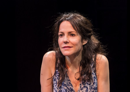 "Mary-Louise Parker in ""Heisenberg."" Written by Simon Stephens and directed by Mark Brokaw, ""Heisenberg"" plays through August 6, 2017, as part of Center Theatre Group's 50th anniversary season at the Mark Taper Forum. For tickets and information, please visit CenterTheatreGroup.org or call (213) 628-2772. Media Contact: CTGMedia@ctgla.org / (213) 972-7376. Photo by Craig Schwartz."