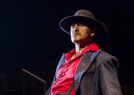 "Demian Bichir in the revival of ""Zoot Suit."" Written and directed by Luis Valdez and presented in association with El Teatro Campesino, ""Zoot Suit"" opens February 12, 2017, (previews began January 31) as part of Center Theatre Group/Mark Taper Forum's 50th anniversary season. For tickets and information, please visit CenterTheatreGroup.org or call (213) 628-2772. Media Contact: CTGMedia@ctgla.org / (213) 972-7376. Photo by Craig Schwartz."