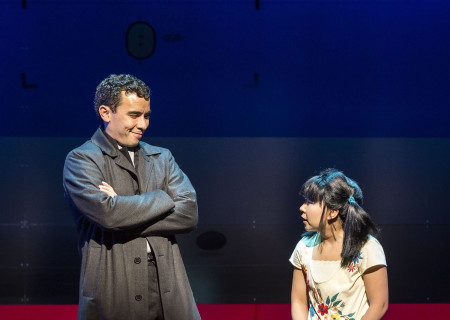 "Conrad Ricamora and Kendyl Ito in the world premiere of David Henry Hwang and Jeanine Tesori's ""Soft Power"" at Center Theatre Group/Ahmanson Theatre. Directed by Leigh Silverman and choreographed by Sam Pinkleton; Soft Power; runs through June 10; 2018. For tickets and information; please visit CenterTheatreGroup.org or call (213) 972-4400. Media Contact: CTGMedia@CTGLA.org / (213) 972-7376. Photo by Craig Schwartz."