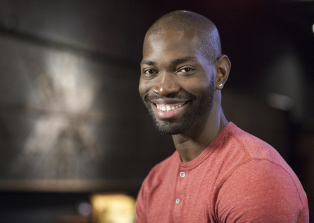 """Tarell Alvin McCraney, whose play """"Head of Passes"""" will be a part of Center Theatre Group/Mark Taper Forum's 2017-2018 season at the Los Angeles Music Center. Directed by Tina Landau, """"Head of Passes"""" will play September 13 through October 22, 2017. Tickets for the Mark Taper Forum's 50th anniversary season are currently available by season ticket membership only. For information and to charge season tickets by phone, call the Exclusive Season Ticket Hotline at (213) 972-4444. To purchase season memberships online, visit www.CenterTheatreGroup.org/Taper. Contact: CTGMedia@ctgla.org / (213) 972-7376. Photo by Jean-Marc Giboux."""